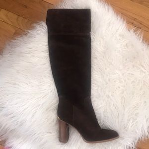 Michael Kors Chocolate Suede Slouch Boots